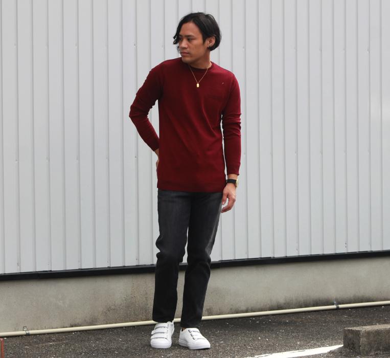 ハイゲージニット秋コーデ