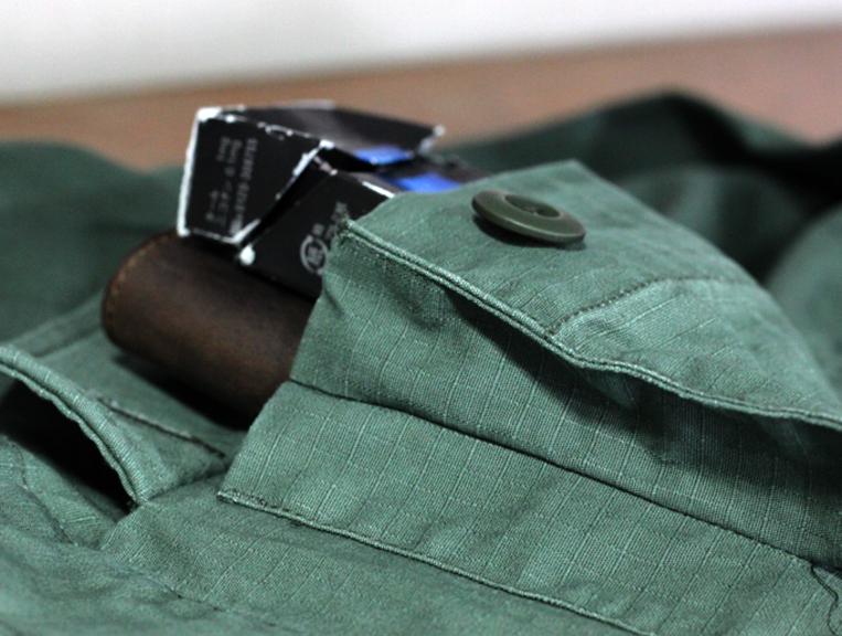 ミリタリーシャツ ポケットマチ