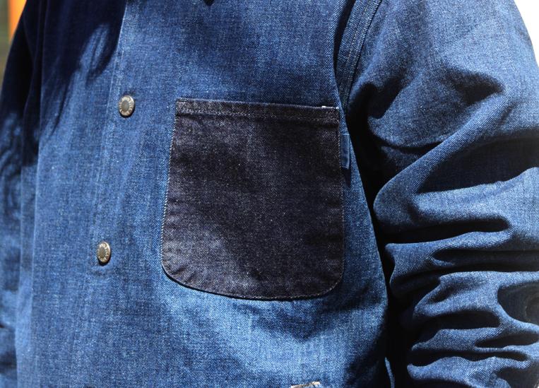 デニムコーチジャケット ポケット