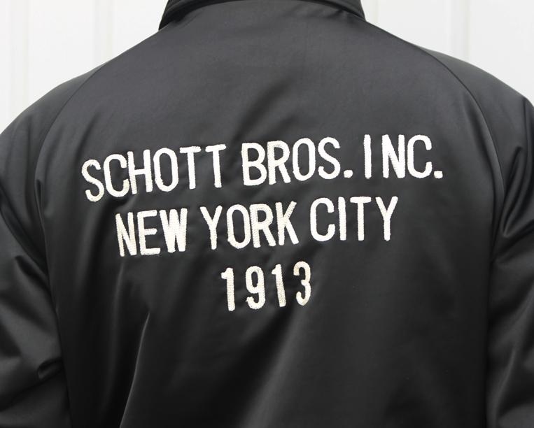 Schott コーチジャケット バックロゴ