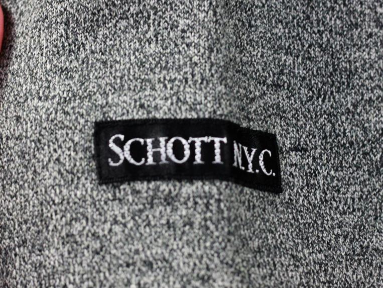 Schott レザーポケットロンT 袖ネーム